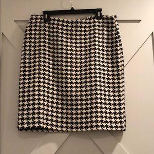Talbots Houndstooth Pencil skirt